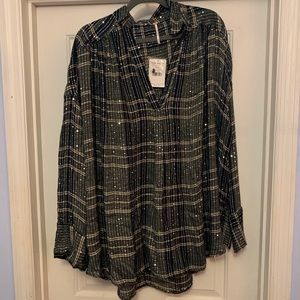 NEED TO SELL! NWT 128$ FREE PEOPLE BLOUSE LARGE
